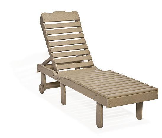 Poly Chaise Lounge with Adjustable Back