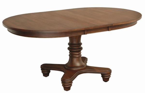 Amish Oceanside Single Pedestal Dining Room Table