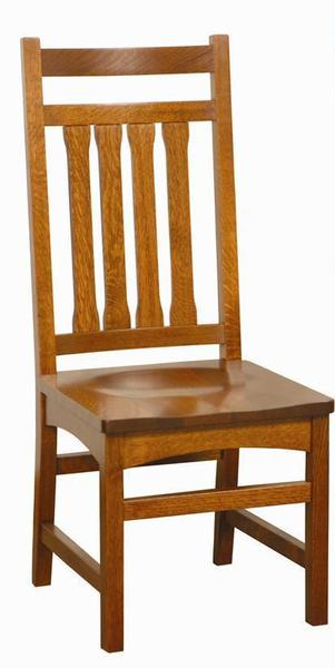 Amish Solid Wood Wolf Hollow Mission Dining Chair