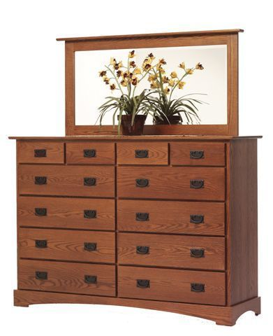 "Amish Old English Mission 66"" High Dresser"