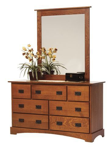 Amish Old English Mission Dresser