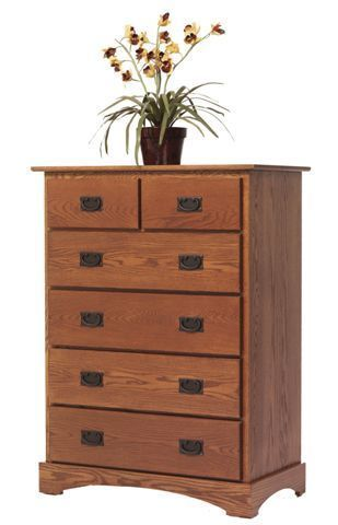 Amish Old English Mission Chest of Drawers