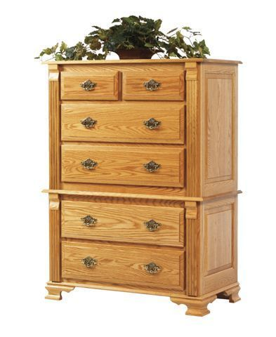Amish Journey's End Chest on Chest of Drawers