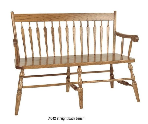 Amish Straight Back Windsor Bench
