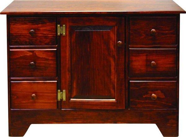 Amish Pine Wood Storage Cabinet