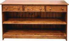Amish Pine Hall Bookcase Console
