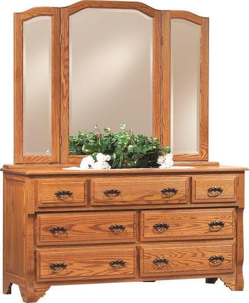 "Amish Oak Crest 60"" Dresser"