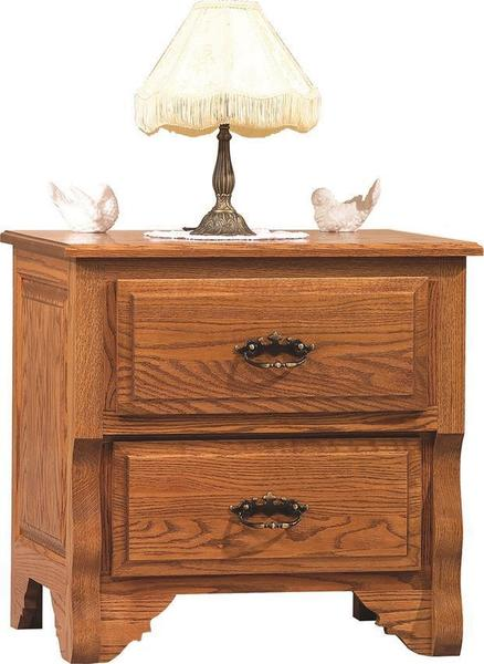 Amish Oak Crest Night Stand