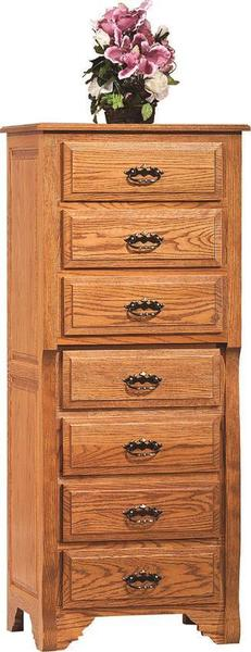 Amish Oak Crest Lingerie Chest