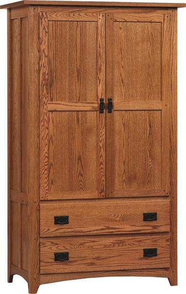 Amish Mission Deluxe Armoire