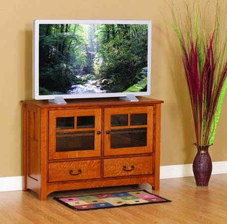 Amish Laurel Cove Plasma TV Stand with Drawers
