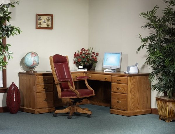 Amish Highland Corner L-Desk
