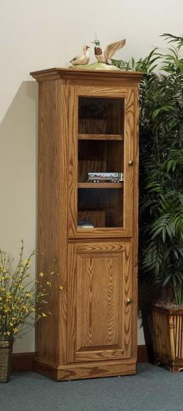 Amish Highland Executive Single Stacked Door Bookcase