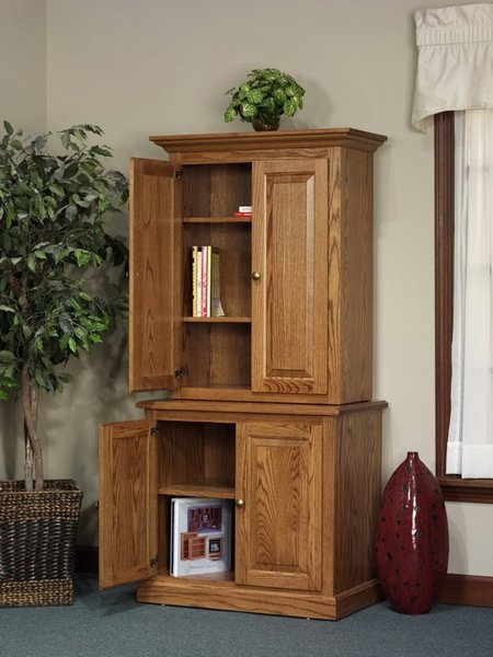 Amish Highland Full Door Bookcase