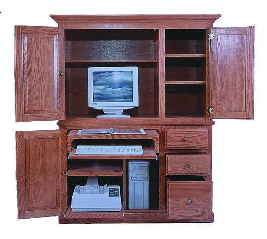 "Amish 54"" Office Armoire Desk"