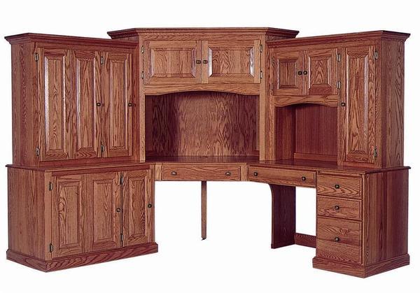 Amish Deluxe Corner Computer Desk