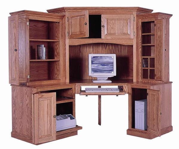 Amish 6 Piece Classic Computer Corner Desk