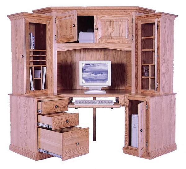 Amish 6 Piece Grand Corner Computer Desk