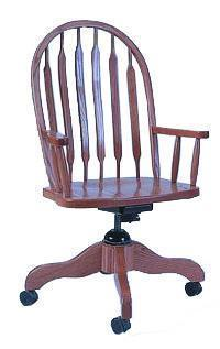 Amish Berlin Paddle Back Desk Chair