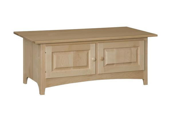 Amish Rectangular Shaker Coffee Table with Doors