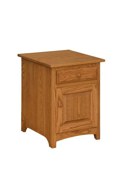 Amish Shaker End Table Cabinet