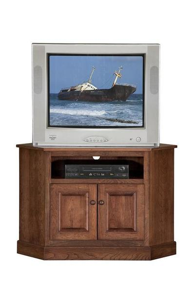 "Amish 44"" Shaker Corner TV Stand with 6"" Opening"