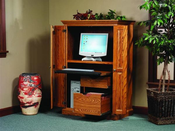 Heirwood Computer Armoire Desk From Dutchcrafters