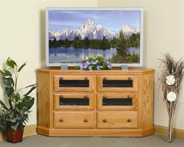 Amish Mulholland Corner TV Stand