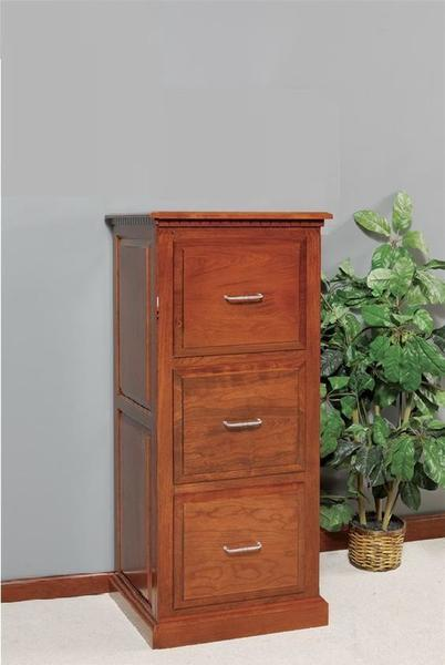 Three Drawer Traditional File Cabinet