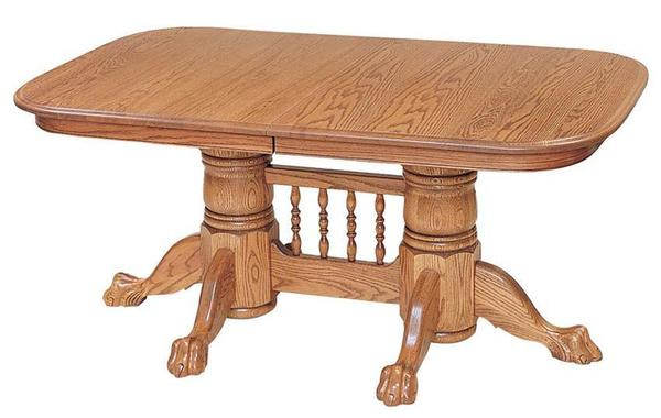 Newport Double Pedestal Dining Table by Keystone