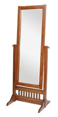 Amish Craftsman Mission Full Length Cheval Floor Mirror