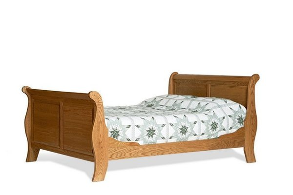 Amish Colonial Sleigh Bed