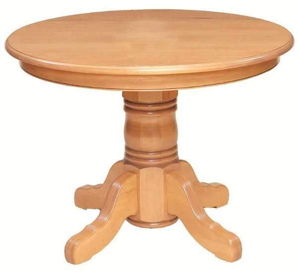 Yorktown Solid Top Pedestal Dining Table by Keystone