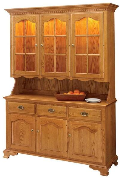 Amish Brookville Three-Door Hutch by Keystone