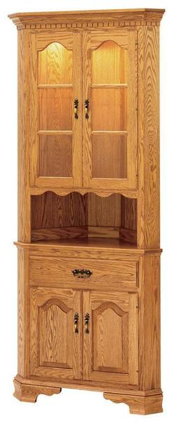 "Brookville 25"" Corner Buffet & Hutch by Keystone Collection"