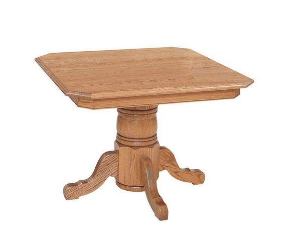Franklin Single Pedestal Solid Top Dining Table by Keystone Collection