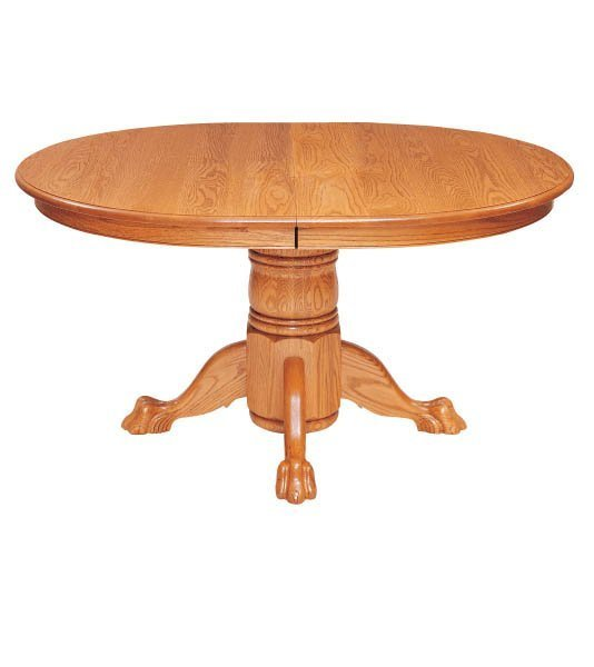 Fulton Self-Storing Pedestal Dining Table by Keystone Collection