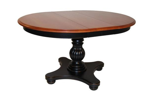 Martinique Solid-Top Pedestal Dining Table by Keystone