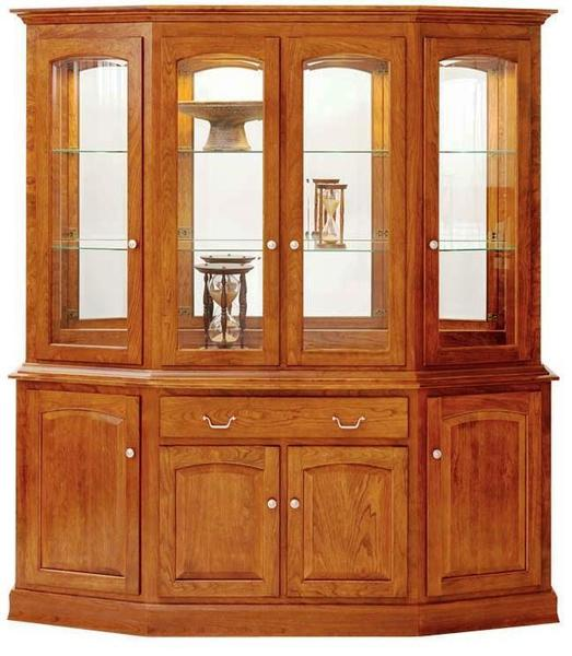 Manchester Canted China Cabinet by Keystone Collection