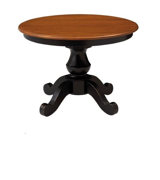 Sonoma Solid-Top Single Pedestal Dining Table by Keystone