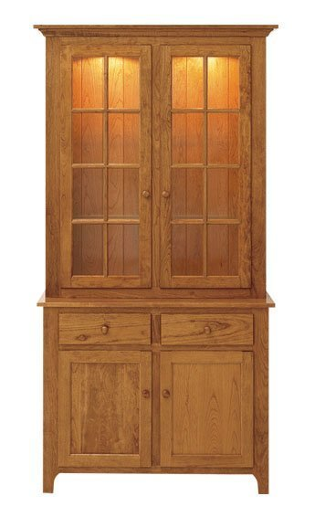 Shaker Two-Door Full-Length Buffet and Hutch by Keystone Collection