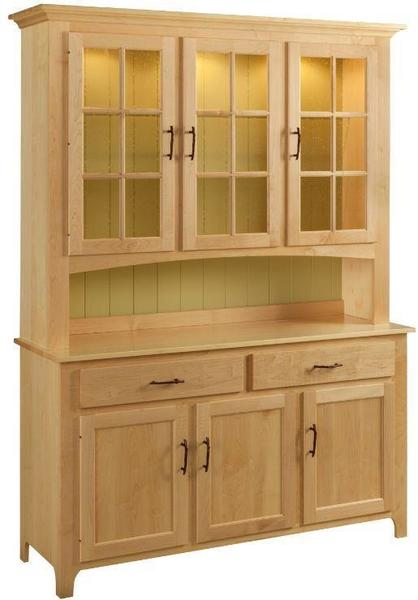 Shaker Three-Door Buffet & Hutch by Keystone