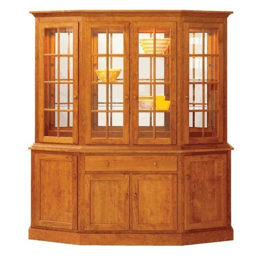 "Shaker 76"" Canted Hutch by Keystone"