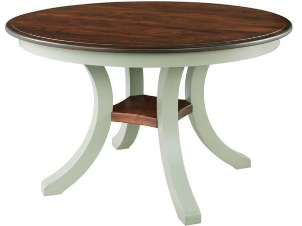 Harrison Solid-Top Pedestal Dining Table by Keystone
