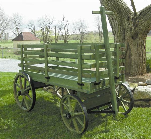 Amish Wooden Express Wagon - Medium Premium