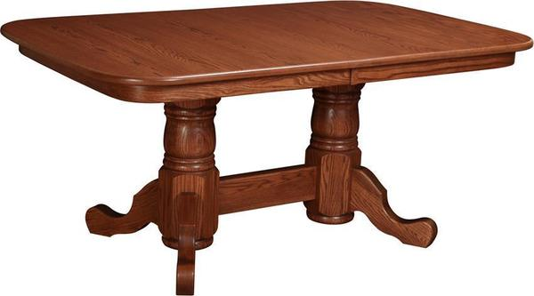 Amish Karlstad Double Pedestal Dining Table