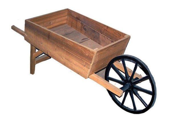Amish Handcrafted Cedar Wood Wheelbarrow