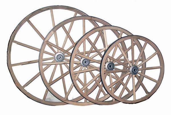 Amish Crafts Ornamental Hickory Wheel
