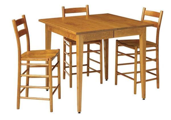 Shaker Self-Storing Gathering Pub Table by Keystone