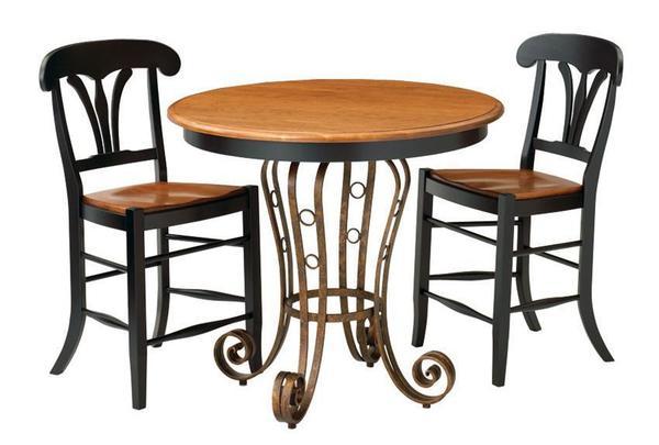 Ironwood Solid-Top Single Pedestal Pub Table by Keystone